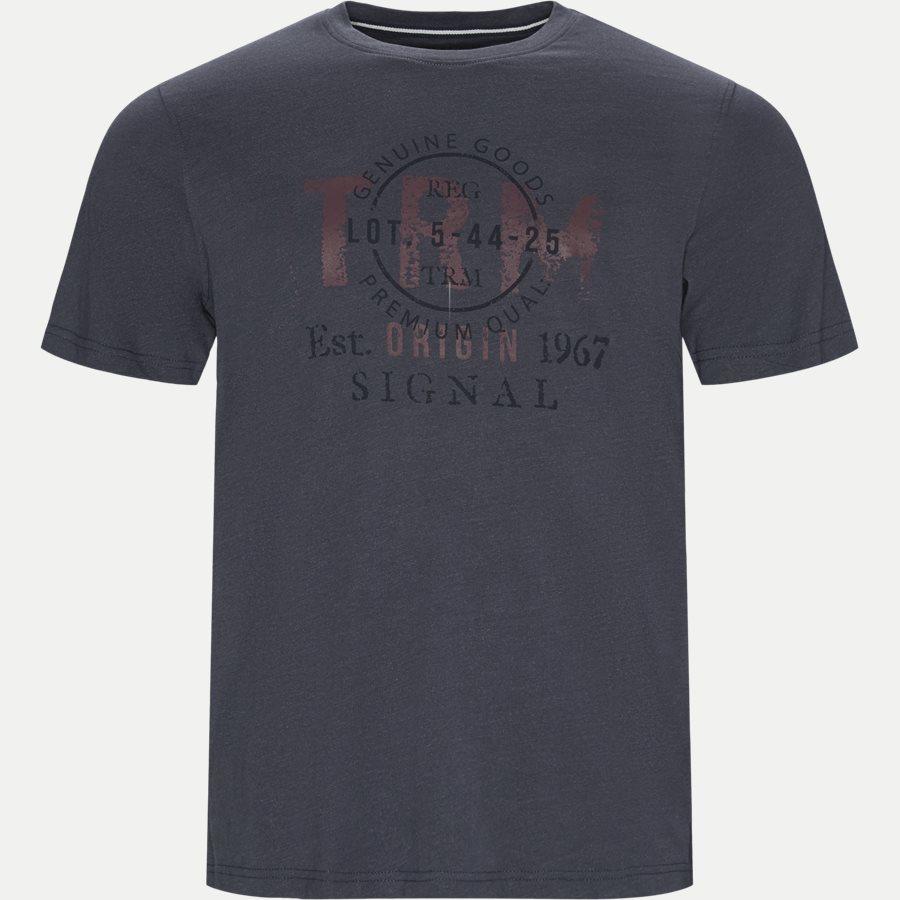 WALTHER LOGO - T-shirts - Regular - BLÅ MEL. - 1